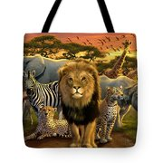 African Beasts Tote Bag by Andrew Farley