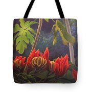 African Tulip Tote Bag by Hunter Jay