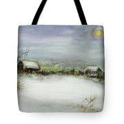 After A Heavy Fall Of Snow Tote Bag by Xueling Zou