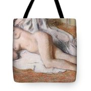 After The Bath Or Reclining Nude Tote Bag by Edgar Degas
