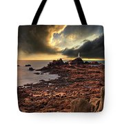 after the storm at La Corbiere Tote Bag by Meirion Matthias