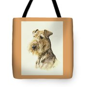 Airedale Tote Bag by Barbara Keith