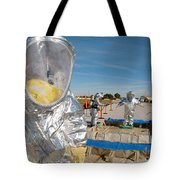 Airman Waits To Process Tote Bag by Stocktrek Images