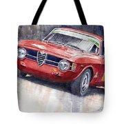 Alfa Romeo Giulie Sprint GT 1966 Tote Bag by Yuriy  Shevchuk