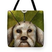 Alien Dog Tote Bag by Leah Saulnier The Painting Maniac
