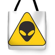 Alien Grey Graphic Tote Bag by Pixel Chimp