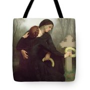 All Saints Day Tote Bag by William Adolphe Bouguereau