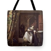 Allegory of the Faith Tote Bag by Jan Vermeer