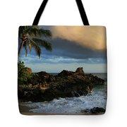 Aloha Naau Sunset Paako Beach Honuaula Makena Maui Hawaii Tote Bag by Sharon Mau