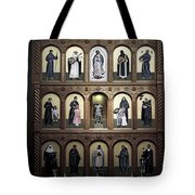 Altar Screen Cathedral Basilica of St Francis of Assisi Santa Fe NM Tote Bag by Christine Till