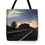 Amtrak Railroad System Tote Bag by Carolyn Marshall
