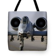 An A-10 Thunderbolt II Tote Bag by Stocktrek Images