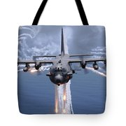 An Ac-130h Gunship Aircraft Jettisons Tote Bag by Stocktrek Images