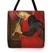 An Angel Playing A Flageolet Tote Bag by Sir Edward Burne-Jones