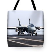 An F-14d Tomcat Makes An Arrested Tote Bag by Gert Kromhout