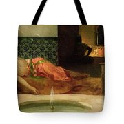 An Odalisque in a Harem Tote Bag by Benjamin Constant