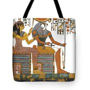 Ancient Egyptian Gods Hathor And Re Tote Bag by Ben  Morales-Correa