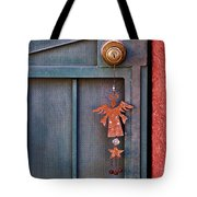 Angel At The Door Tote Bag by Carol Leigh