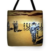 Angels Of The Sand Tote Bag by Todd Krasovetz