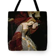 Anne Boleyn in the Tower Tote Bag by Edouard Cibot