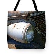 Antique Car Headlight Tote Bag by Douglas Barnett