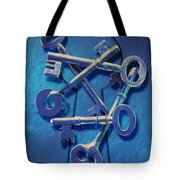 Antique Keys Tote Bag by Kelley King