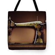 Antique Singer Sewing Machine Tote Bag by Kelley King