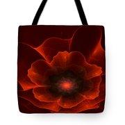 Apo Oriental Poppy Tote Bag by Peggi Wolfe
