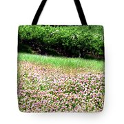 Apple Trees And Clover Tote Bag by Will Borden