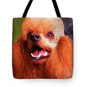 Apricot Poodle Tote Bag by Jai Johnson