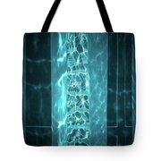 Aqua Drapes Tote Bag by Wim Lanclus