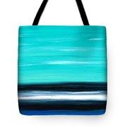 Aqua Sky - Bold Abstract Landscape Art Tote Bag by Sharon Cummings