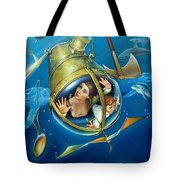AQUARIA RISING from Mask of the Ancient Mariner Tote Bag by Patrick Anthony Pierson
