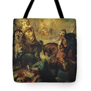 Arab Tribal Chiefs in Single Combat Tote Bag by Theodore Chasseriau