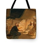 Arabs In The Desert Tote Bag by Frederick Goodall