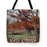 Arlington Cemetery In Fall Tote Bag by Carolyn Marshall