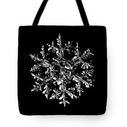 Snowflake Vector - Gardener's Dream Black Version Tote Bag by Alexey Kljatov
