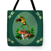 Humorous Tree Frog Playing A Fiddle Tote Bag by Regina Femrite