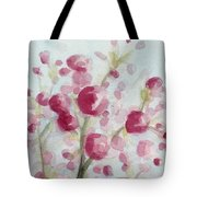 Watercolor Painting of Pink Cherry Blossoms Tote Bag by Beverly Brown Prints