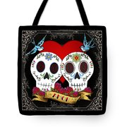 Love Skulls II Tote Bag by Tammy Wetzel