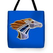 Glowing Bronco Tote Bag by Shane Bechler