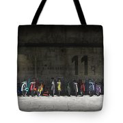 Bike Rack Tote Bag by Cynthia Decker