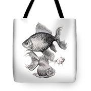 Goldfish Tote Bag by Sarah Batalka