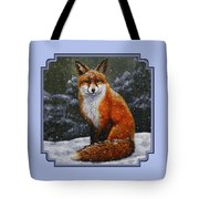 Snow Fox Tote Bag by Crista Forest
