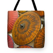 Asian Umbrellas Tote Bag by Michele Burgess