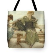 Ask Me No More....for At A Touch I Yield Tote Bag by Sir Lawrence Alma-Tadema