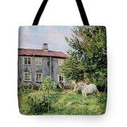 At The Farm Tote Bag by Gerhard Peter Frantz Vilhelm Munthe