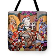 At The Pizzeria Tote Bag by Anthony Falbo