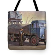 Atkinson At The Docks Tote Bag by Mike  Jeffries