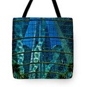 Atrium Gm Building Detroit Tote Bag by Chris Lord